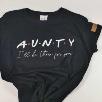 Aunty Shirt Schwarz Friends Kurz