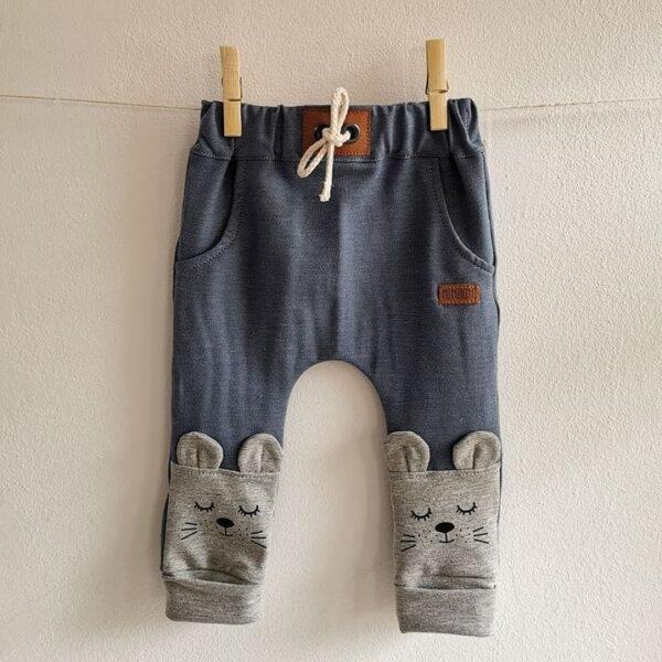 Baby/Kinder Hose Maus hell blau