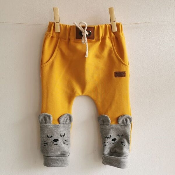 Baby/Kinder Hose Maus gelb