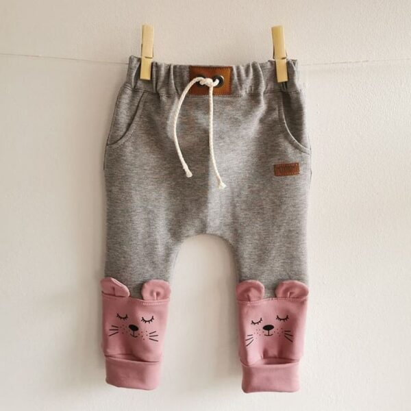 Baby/Kinder Hose Maus grau meliert