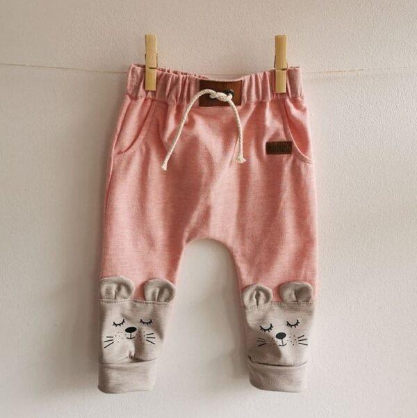 Baby/Kinder Hose Maus rosa meliert