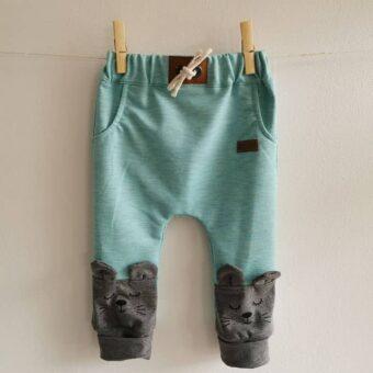 Baby/Kinder Hose Maus türkis