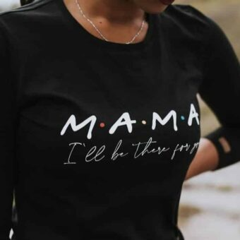 Mama Shirt Schwarz Friends_1