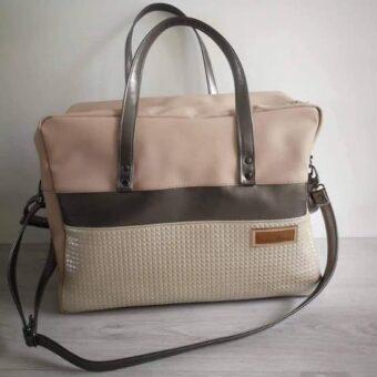 XL Mama Tasche rosa beige