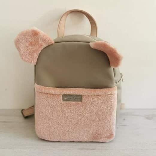 Rucksack BabyBear rosa braun