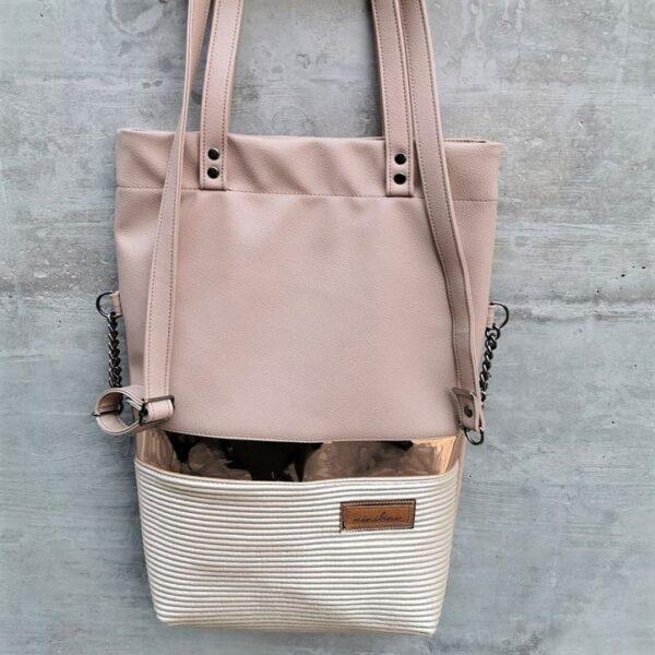 Tasche grosse rosa gold weiß